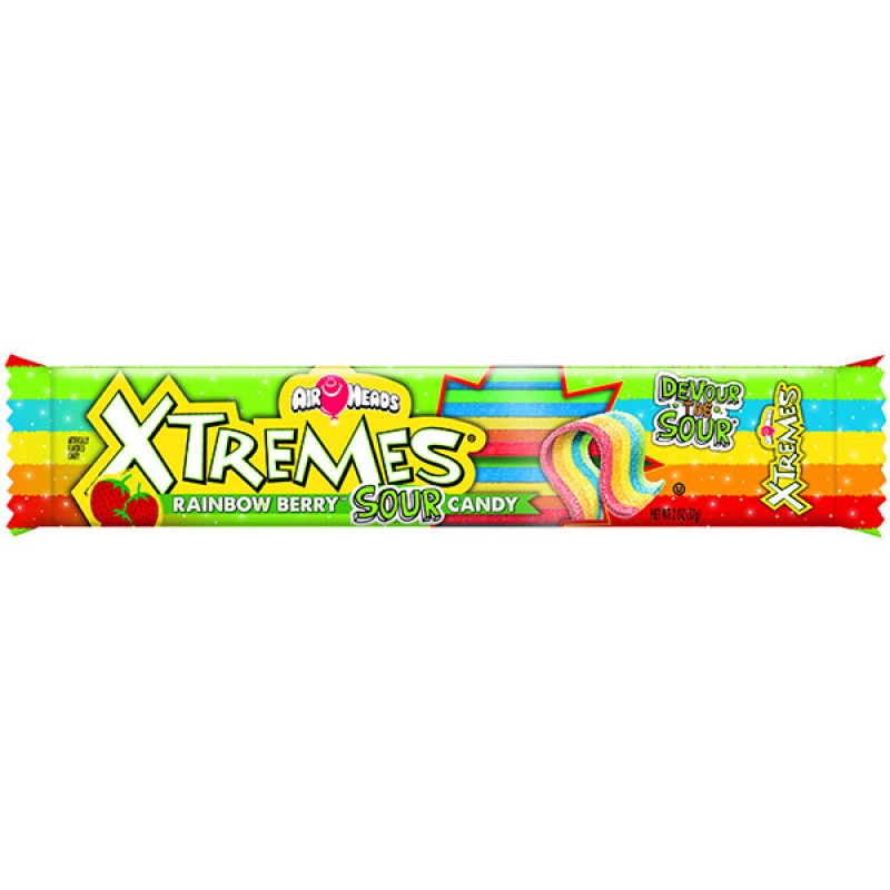 Airheads Xtremes Rainbow Berry Sour Candy