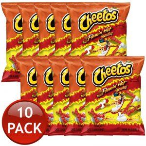 Cheetos Flamin Hot XL 8oz Full Box 10packs
