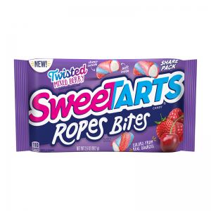 Sweetarts Share Pack Twisted Mixed Berry Ropes Bites